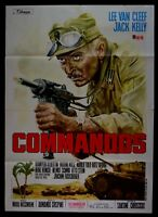 M158 Manifesto 2F Commandos 1963 Lee Van Cleef Jack KELLY Marilu ' Tolo Pierpaol
