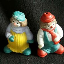 Salt & Pepper Shakers Set Clown Collection Husband Wife Vintage Décor Multicolor