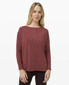 Lululemon Back In Action Long Sleeve *Splatter US 6 - Savannah - BRAND NEW