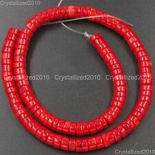 Natural Coral Gemstone Heishi Spacer Loose Beads 3mm 4mm 6mm 8mm 10mm 12mm 15.5""