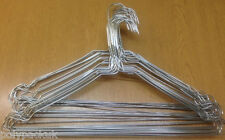 """20 Strong Silver Notched Metal Wire Clothes Coat Hangers 40cm 16"""" 13G"""