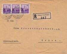 Lettre Recommandée Schaan pour Vaduz Cover Liechtenstein