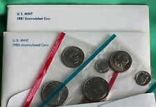 1979 1980 and 1981 ANNUAL US Mint Coins with PD+S SBA Dollar 3 Sets Complete