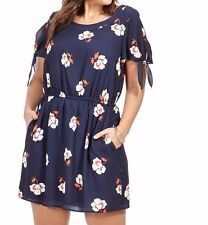 Corey Crepe Blouson Trista Dress In Jane Floral Print Size 1X