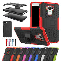 "For Asus Zenfone 3 max 5.2"" 5.5"" Slim Rugged Armor Kickstand Phone Case Cover US"