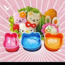 3PCS Creative DIY Cute Sushi Rice Mold Bento Maker Tool Rabbit Bear Cat Safety