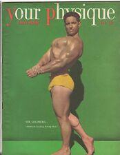 Vintage Bodybuilding Magazine YOUR PHYSIQUE/Abe Goldberg 11-49