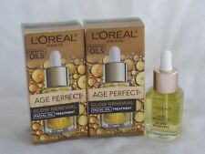 2 L'Oreal Age Perfect Glow Renewal Facial Oil Treatment .5 Oz Nib Total 1oz inv9