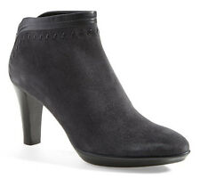 NEW Aquatalia by Marvin K Riley Platform Weatherproof Grey Suede Bootie 9.5 WIDE