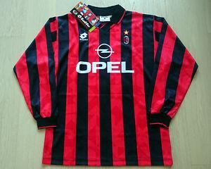 1995-96 AC Milan Home Shirt L/S Roberto Baggio #18 ''w/tags'' size L Mega Rare