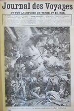 JOURNAL DES VOYAGES N° 535 de 1887 AFRIQUE COLONIE SENEGAL SOUDAN / OR TRANSVAAL