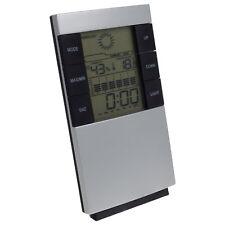 Digital Reise Uhr Wecker ohne Funk m. Wetter Temperatur Luftfeuchtigkeitsanzeige