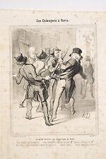 DAUMIER Charivari 1844 Les Etrangers à Paris Ce qu'on appelle les séductions de