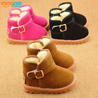 New toddler snow boots baby boys girls warm winter short boot shoes size 5-11