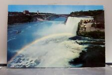 New York NY Niagara Falls Rainbow in the Mist Postcard Old Vintage Card View PC