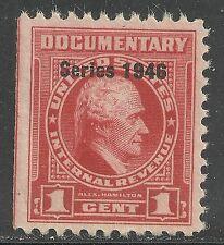 U.S. Revenue Documentary stamp scott r436 - 1 cent issue of 1946 - mng