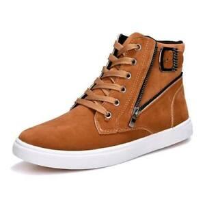 Zapatos Zapatillas de Moda Botas Hombres Casual de Cuero Invierno Botines