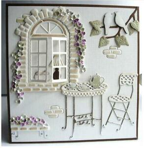 Window Chair Dies Metal Cutting Dies Embossing Scrapbooking Craft Stencil Frame