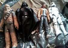 "star wars 12"" figures bundle - Darth Vader, Storm Trooper, Chewbacca & Finn."