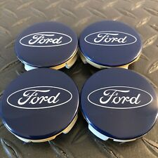 Ford Fusion Escape Fiesta Blue Oval Wheel Center Hub Caps Set-4 6M21-1003-AA OEM