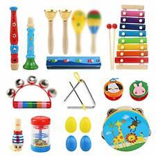 Percussion Musikinstrumente Ballery Kinder Set 25 Stück Holz Set für  B-WARE