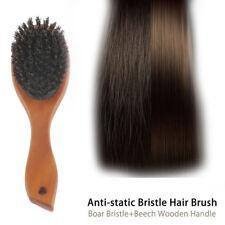 Natural Boar Bristle Hair Brush Comb Oval Anti-static Paddle Scalp Massage