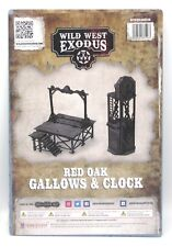 Wild West Exodus WEX991399038 Red Oak Gallows & Clock Scenery Set Terrain NIB