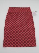 LuLaRoe Womens Pink Polka Dot Cassie Pencil Skirt Large 14-16 Unicorn Geometric