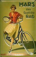 Mars Rad Fahrrad Blechschild Schild 3D geprägt gewölbt Tin Sign 20 x 30 cm