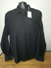 🆕️ Billy Reid Kirby Combo Button Down Shirt, Black/Gold, Size L