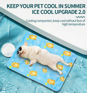 Dog Cooling Mat Pet Heat Relief Gel Ice Cool Upgraded Design Genuine Polymer Gel