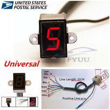 Universal Motorcycle Digital Gear Indicator LED Display Shift Level Sensor -USA