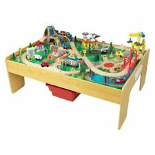 Kidkraft Adventure Town Railway Set and Table with EZ Kraft Assembly - 18025