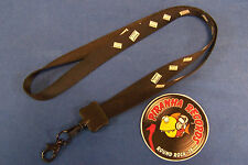 "Screw Gray Tape Cassette Tapes Black 36"" Lanyard Clip Key Chain Piranha Records"
