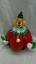 MCM mid century Italian  murano red pumpkin art glass clown figurine sculture