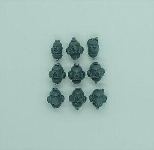 Warhammer 40K Space Marine Assault Squad 9x heads