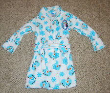 Disney Frozen Fleece Robe Size L 10/12 Olaf Elsa Anna