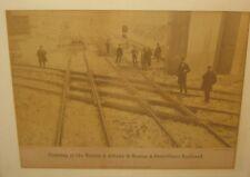 Antique JAMES WALLACE BLACK Crossing of Boston Albany Providence Railroad PHOTO