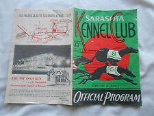 VINTAGE SARASOTA KENNEL CLUB GREYHOUND DOG RACING OFFICIAL PROGRAM 1959