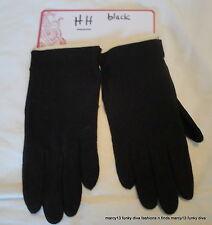 NOS NWT Vintage Fownes Black Nylon Ladies' Wrist Length Gloves Size A  HH