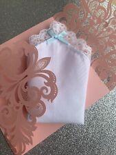 Something Blue...Bridal Hankie,Pretty Bow & Presentation Card, Beautiful Gift