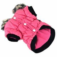 Warm Padded Dog Cat Coat Jacket Chihuahua Winter Pet Clothing Coat Jacket Hoodie