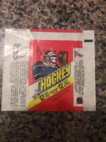 1977-78 O-PEE-CHEE 15 CENT HOCKEY WAX PACK WRAPPER 2 variations