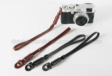 Brown Genuine Leather Camera Hand Wrist Strap for Fujifilm Samsung Sony Canon