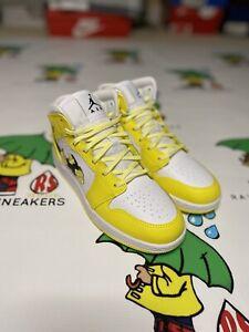 Air Jordan 1 Mid Yellow Rose AV5174-700 - Youth Size 4Y DS