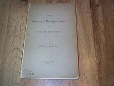 Genesis And Development Of The Connecticut Historical Society  PB 1889