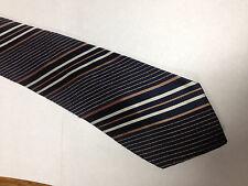 Mens Blue Brown White Tie Necktie JCPENNY~ FREE US SHIP (11099)
