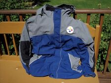 Large NFL Pittsburg Steelers Football Jacket Water Proof Cold Weather Coat 3n1