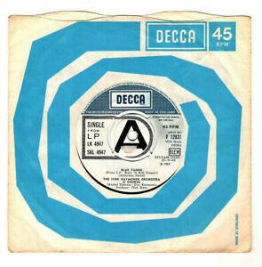 "IVOR RAYMONDE ORCH.BLUE TANGO / TANGO ROCK 'N ROLL.UK ORIG 1968 7"" DEMO.G+/VG"