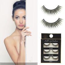 Pairs Natural Black Handmade Eye Lash Extension 3D False Eyelashes Long Thick
